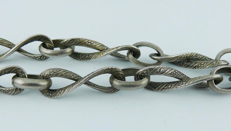 Lanvin Vintage Medieval Revival Sautoir Necklace 5