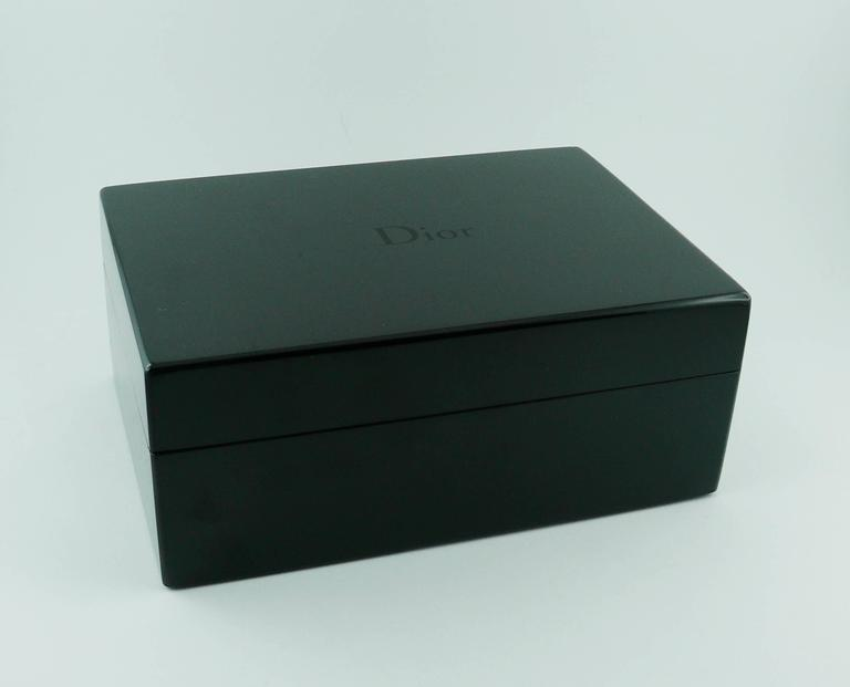 Christian Dior Black Resin Jewelry Box For Sale At 1stdibs