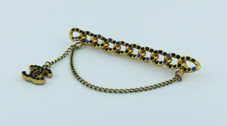 Chanel Jewelled Chain Brooch CC Charm Fall 2001 4