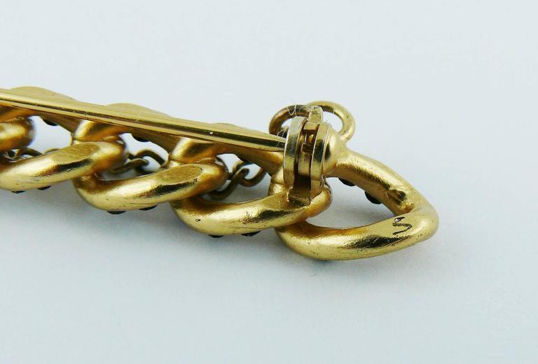 Chanel Jewelled Chain Brooch CC Charm Fall 2001 7