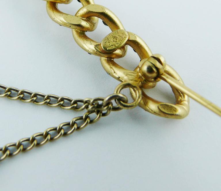 Chanel Jewelled Chain Brooch CC Charm Fall 2001 6