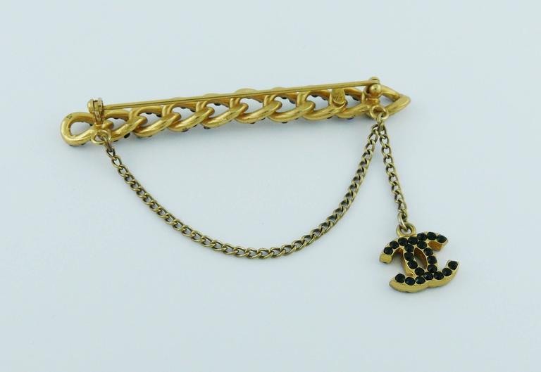 Chanel Jewelled Chain Brooch CC Charm Fall 2001 5