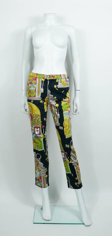 Moschino Vintage 1990s Slot Machine Print Trousers For