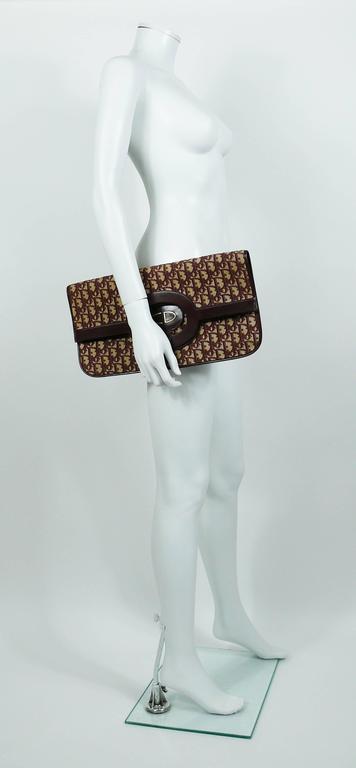 Christian Dior Vintage Burgundy Monogram Iconic Canvas Bag 2