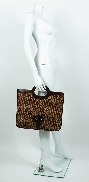 Christian Dior Vintage Burgundy Monogram Iconic Canvas Bag 4