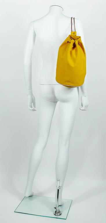 Women's or Men's Hermès Vintage Saffron Yellow Sac Polochon Bag For Sale
