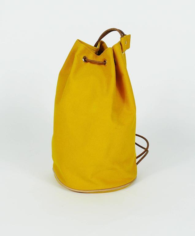 Hermès Vintage Saffron Yellow Sac Polochon Bag For Sale 1