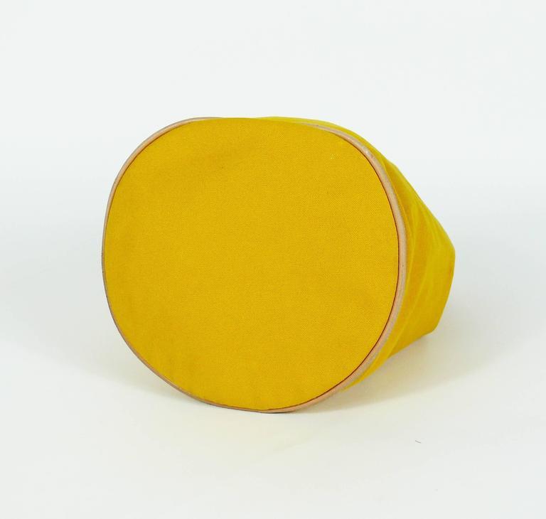 Hermès Vintage Saffron Yellow Sac Polochon Bag For Sale 3