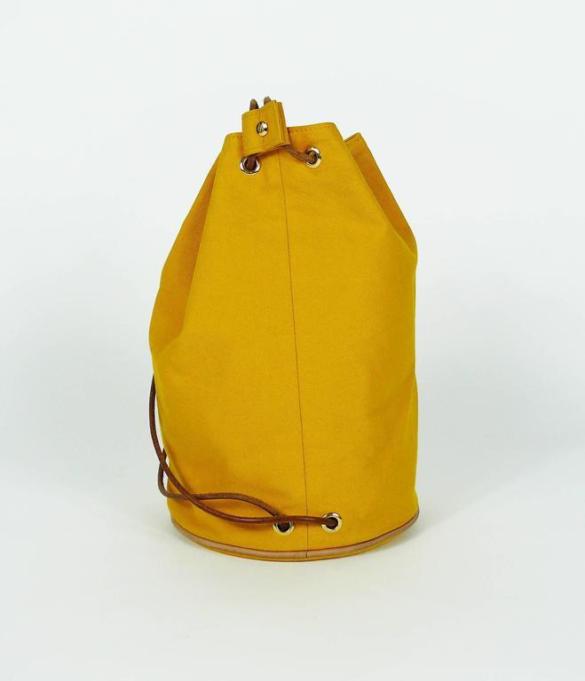 Hermès Vintage Saffron Yellow Sac Polochon Bag For Sale 2