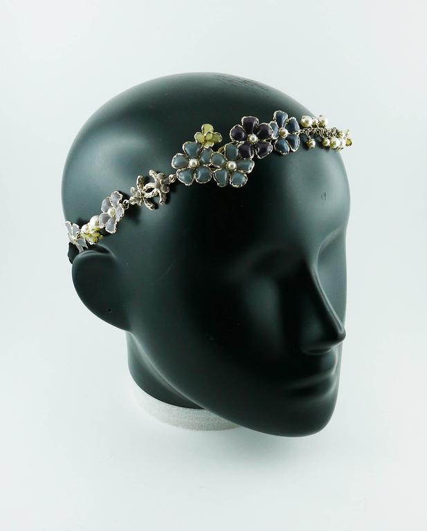 Chanel Rare Flower and Pearl Headband Cruise 2012/2013 2