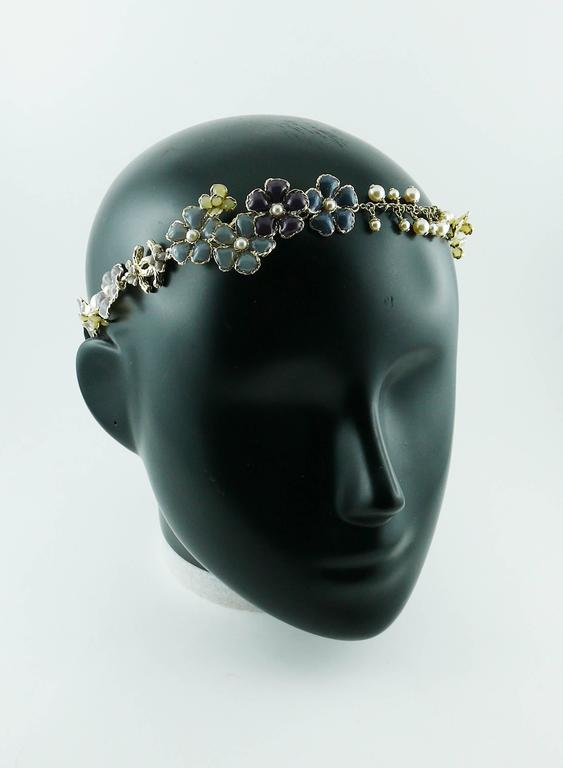 Chanel Rare Flower and Pearl Headband Cruise 2012/2013 4