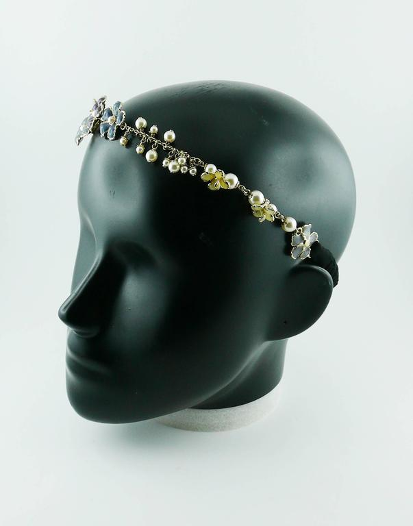 Chanel Rare Flower and Pearl Headband Cruise 2012/2013 6