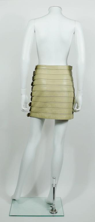 9d898426dd Dolce and Gabbana Lambskin Leather Bondage Skirt For Sale at 1stdibs