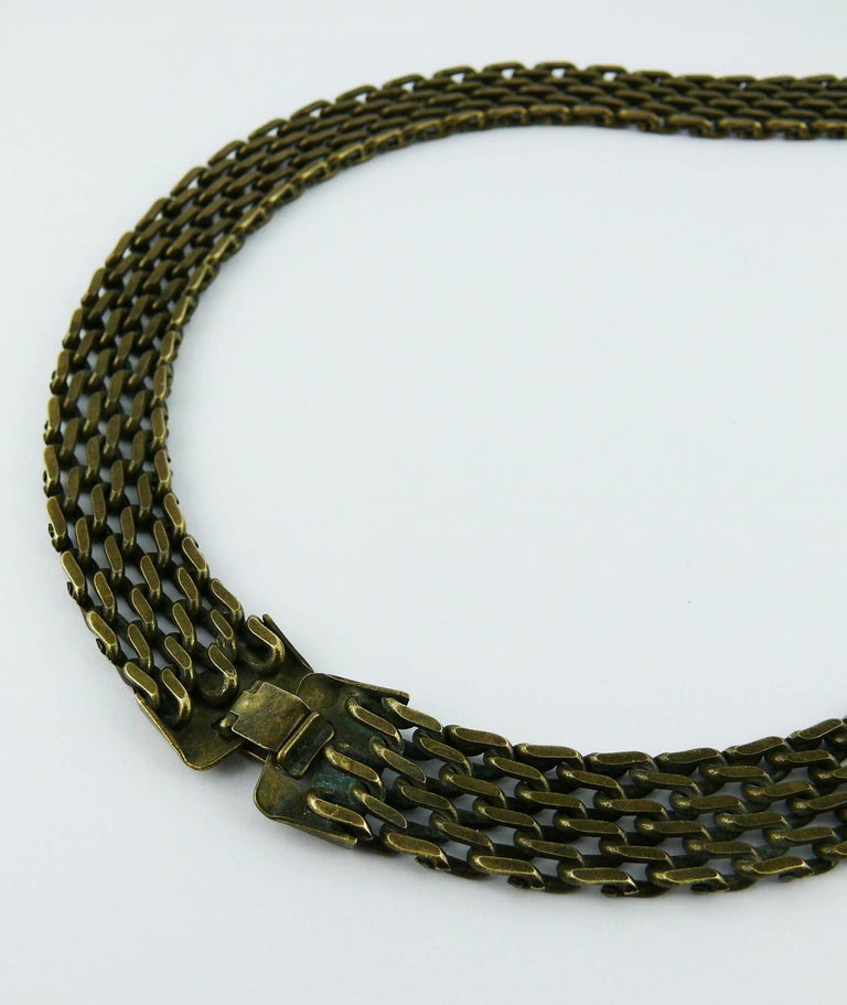 Chanel Lariat Chain Belt with Large Glass Pearl Drop For Sale 4