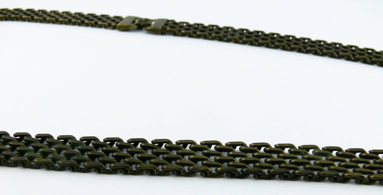 Women's Chanel Lariat Chain Belt with Large Glass Pearl Drop For Sale