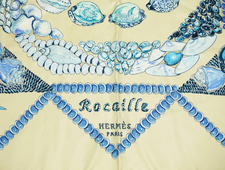 "Hermes Silk Carre Scarf ""Rocaille"" by Valerie Dawlat-Dumoulin For Sale 2"