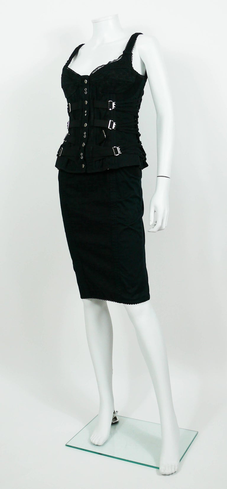 Dolce And Gabbana D Amp G Vintage Bondage Strap Skirt And
