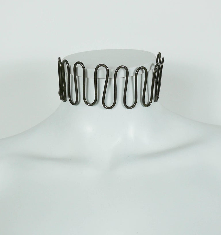 Women's Jean Paul Gaultier Vintage Twisted Choker and Bracelet Set For Sale