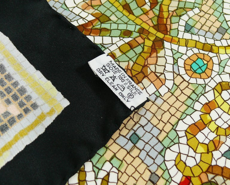 "Hermès Rare Silk Carre Scarf ""Pavement"" by Maurice Tranchant 10"