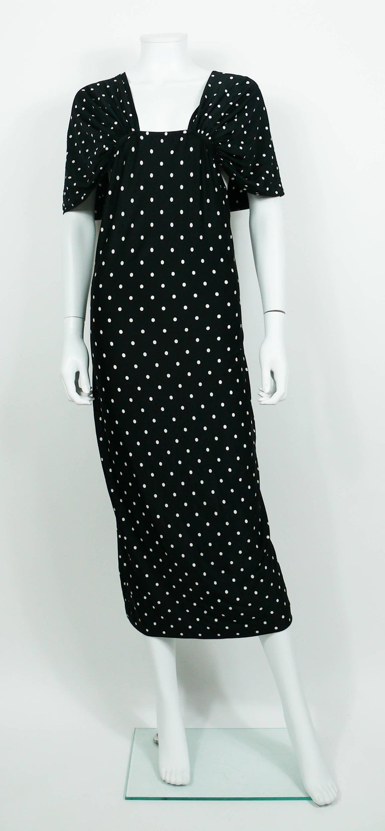 Women's Patrick Kelly Vintage Black White Polka Dot Dress US Size 10 For Sale