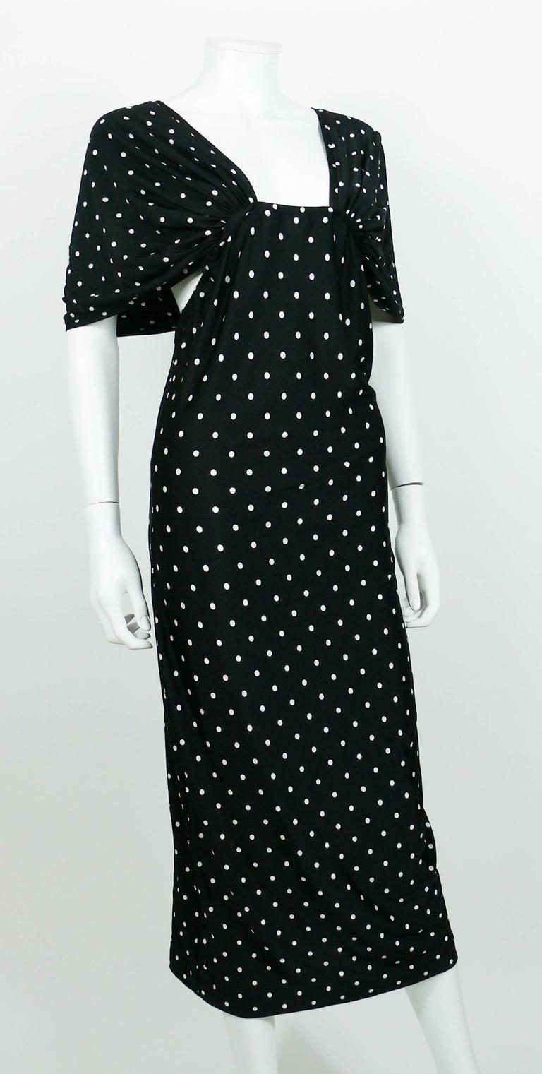 Patrick Kelly Vintage Black White Polka Dot Dress US Size 10 3