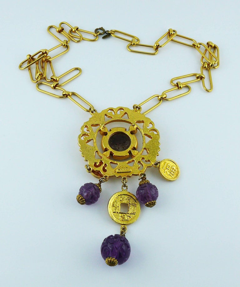 Cadoro Vintage Chinese Inspired Necklace For Sale 3