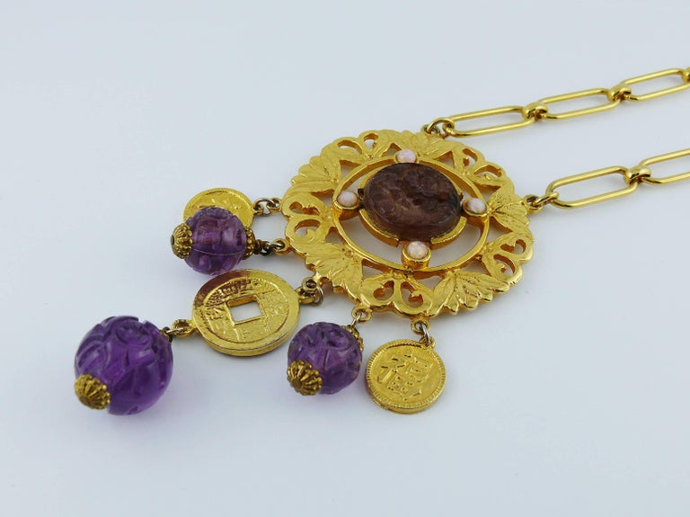 Women's Cadoro Vintage Chinese Inspired Necklace For Sale