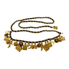 Chanel Vintage Iconic 21 Charm Belt Necklace