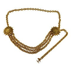 Chanel Vintage Double-Headed Eagle Insigna Belt Necklace