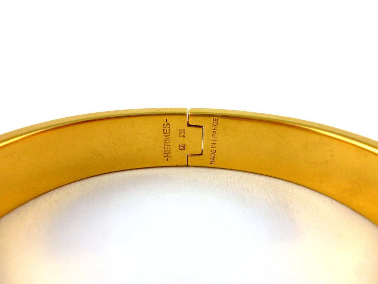 hermes lagoon blue clic clac h enamel bracelet narrow at 1stdibs