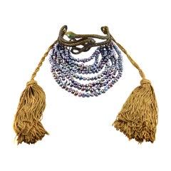 Valentino Garavani Rare Snake Iridescent Freshwater Pearl Runway Choker Necklace