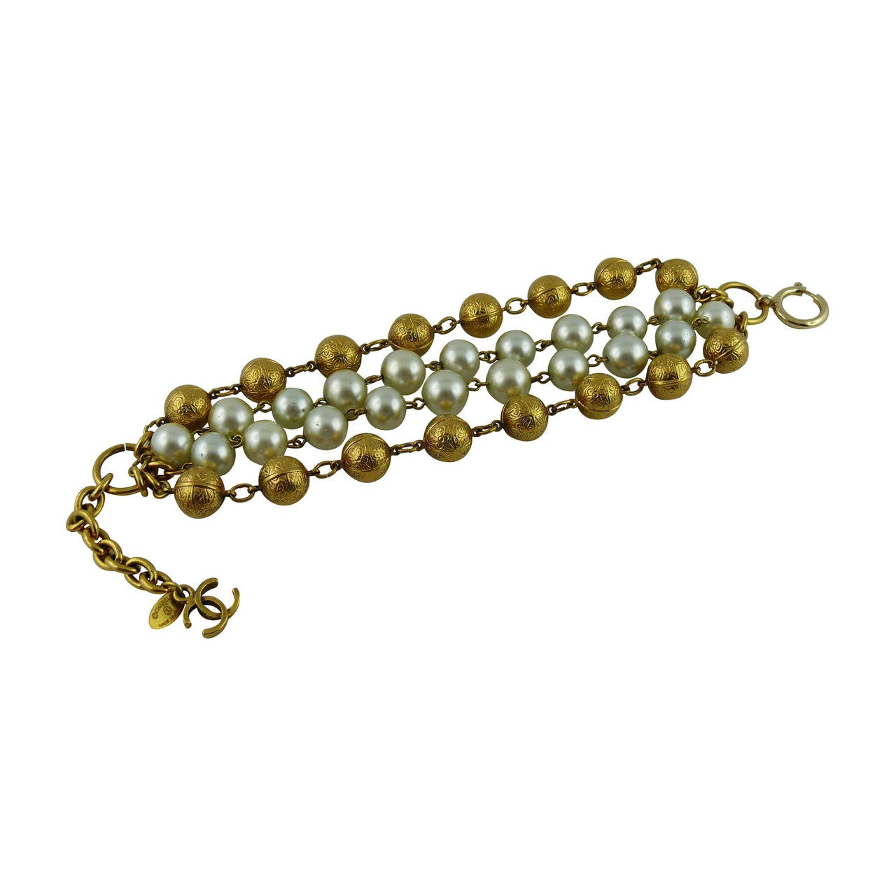 claiborne liz beads single with clasp product trim strand navy vintage long pearls beautiful gold and faux