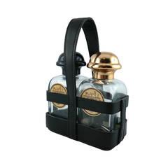 Hermes Ultra Rare Vintage Black Leather Perfume Bottle Holder