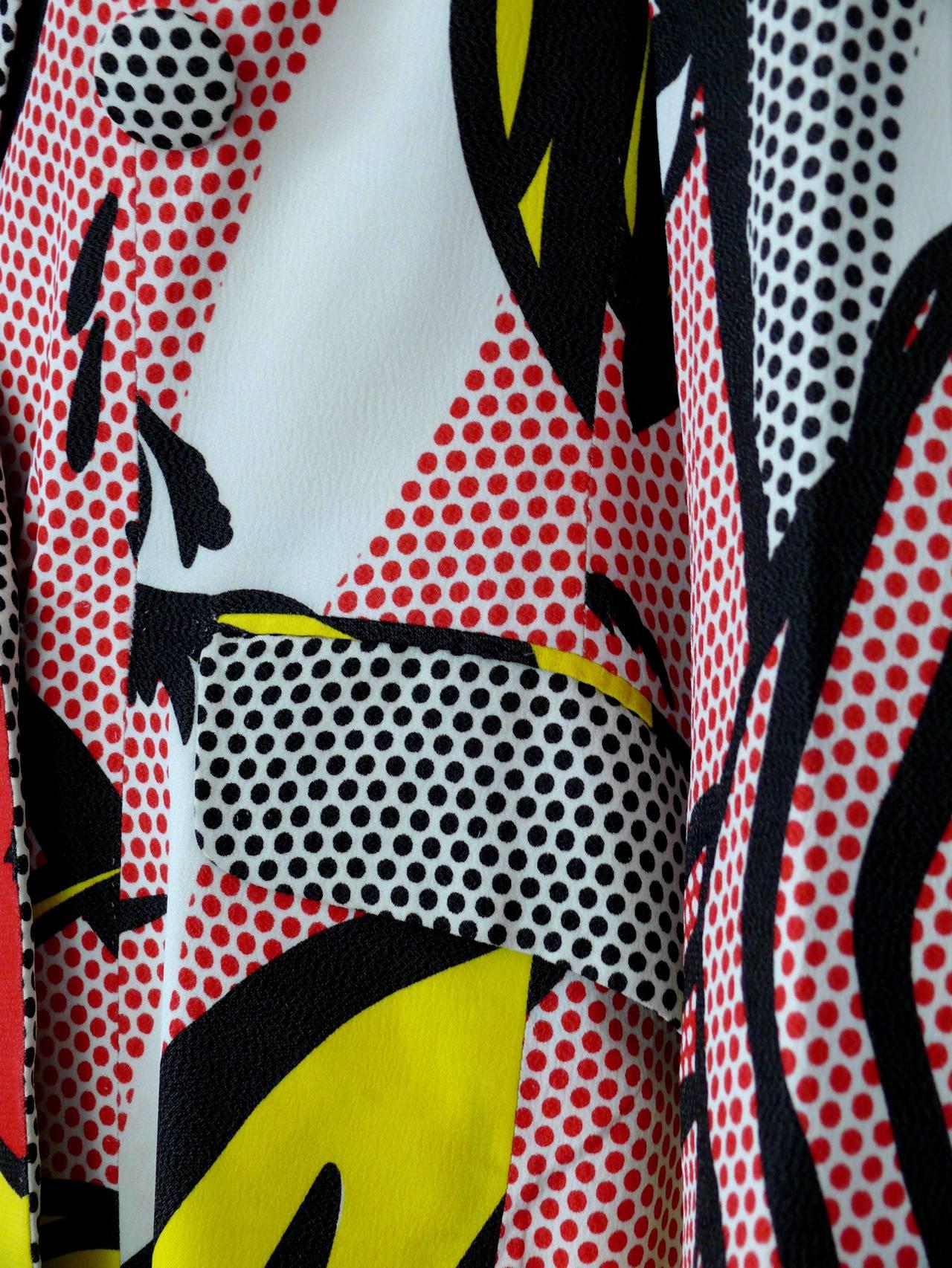 Women's Moschino Rare Spring/Summer 1991 Pop Art Roy Lichtenstein Blazer For Sale