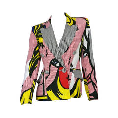 Moschino Rare Spring/Summer 1991 Pop Art Roy Lichtenstein Blazer