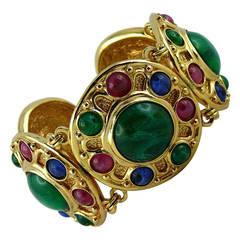 Christian Dior Vintage Tutti Frutti Glass Bracelet