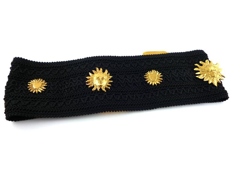 Yves Saint Laurent YSL by Robert Goossens Vintage Rare Sun Face Waist Belt 2