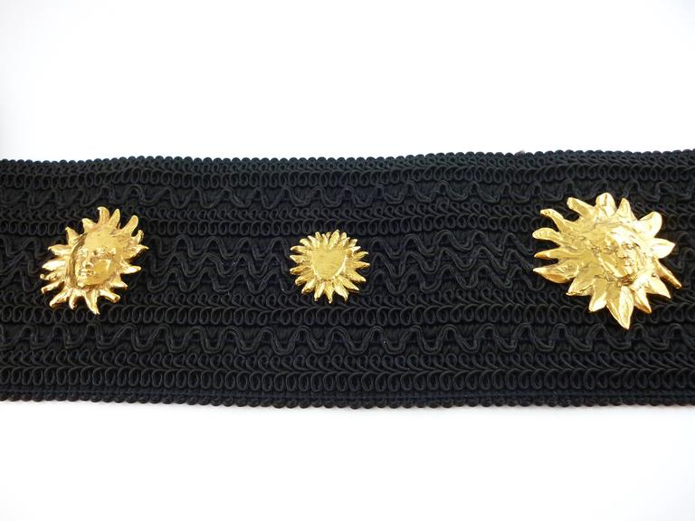 Yves Saint Laurent YSL by Robert Goossens Vintage Rare Sun Face Waist Belt 3