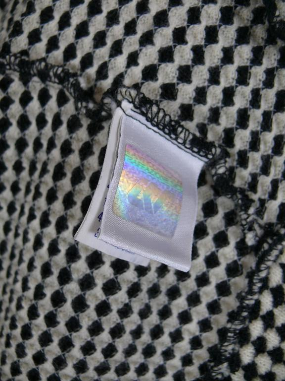 Gianni Versace Jeans Couture Vintage 90's Black & White Checkered Vest Jacket For Sale 2
