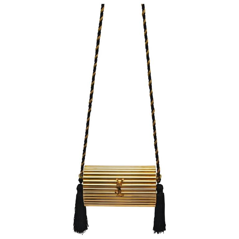 c43351cb853c Yves Saint Laurent YSL Vintage Rare Collectable Gold Evening Clutch ...