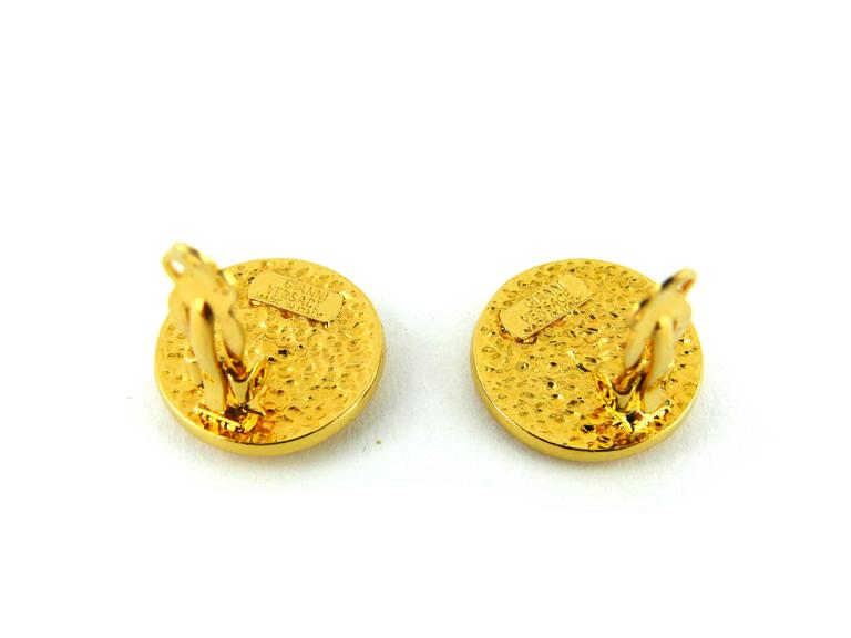 Gianni Versace Vintage Unworn Medusa Clip-On Earrings 4
