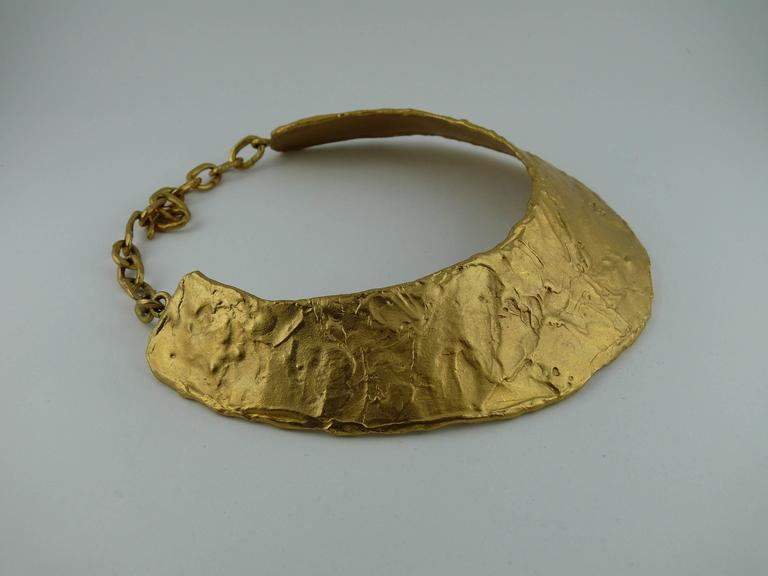 Biche de Bere Paris Vintage Brutalist Collar Necklace For Sale 2