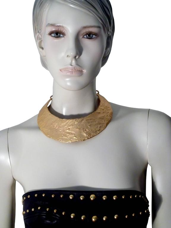 Biche de Bere Paris Vintage Brutalist Collar Necklace In Excellent Condition For Sale In French Riviera, FR