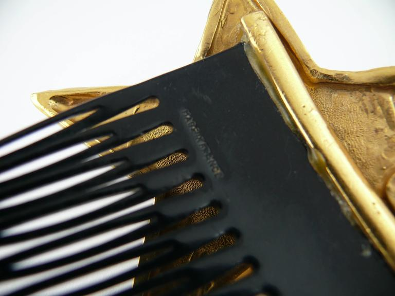 Yves Saint Laurent Attributed Vintage Rare Star Hair Comb 5