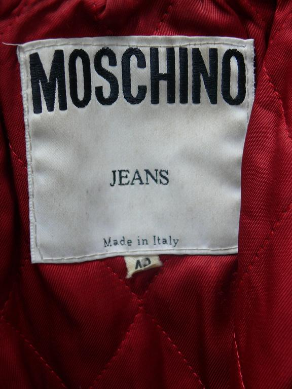 Moschino Vintage Iconic Peace Leather Jacket Circa 1990 6