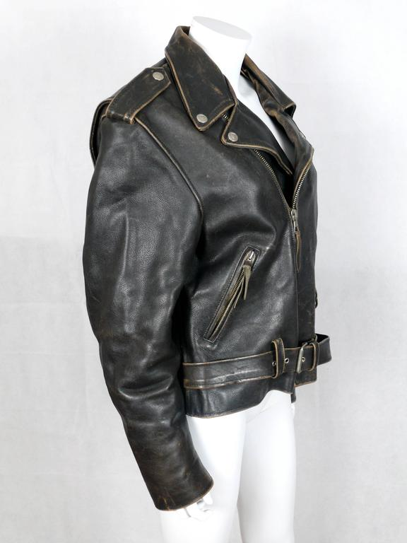 Moschino Vintage Iconic Peace Leather Jacket Circa 1990 5