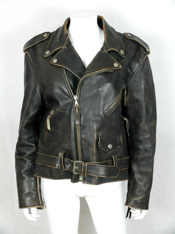 Moschino Vintage Iconic Peace Leather Jacket Circa 1990 3