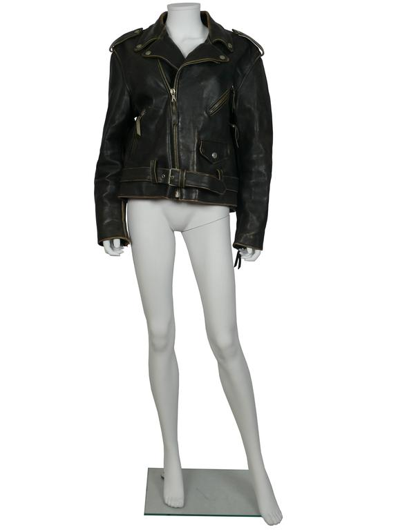 Moschino Vintage Iconic Peace Leather Jacket Circa 1990 2
