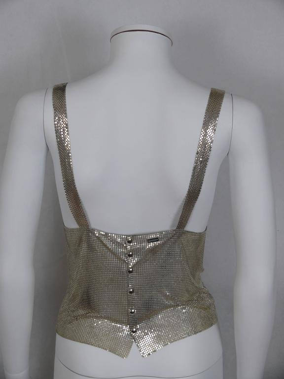 Paco Rabanne Silver Metal Mesh Tank Top In Excellent Condition For Sale In French Riviera, FR