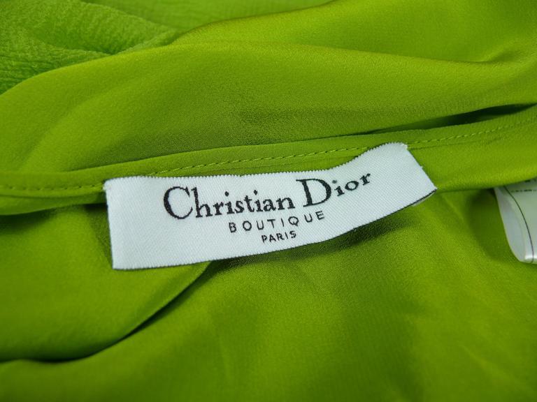 Christian Dior Ruffled Chiffon Dress For Sale 2